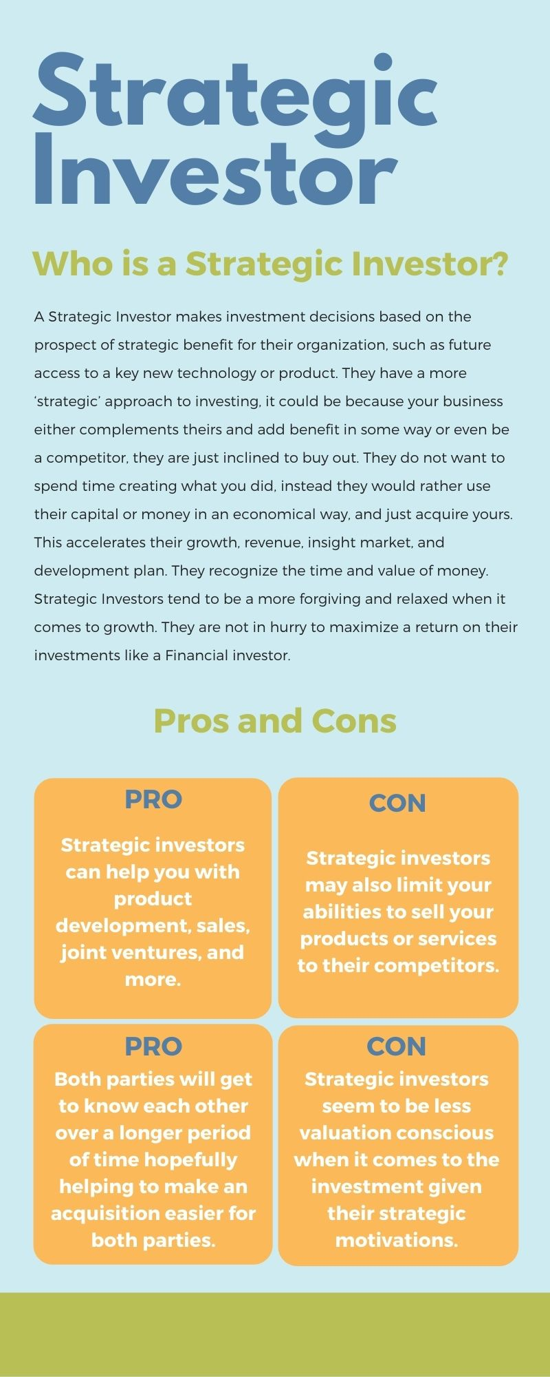 strategic investors vs financial investors